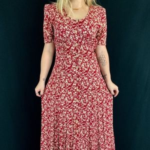 90s Does 40s All That Jazz Floral Dress